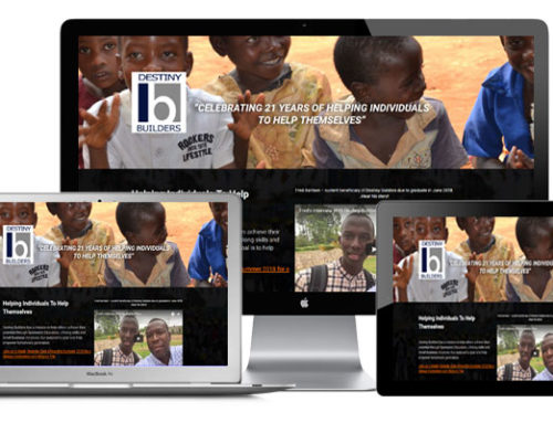 Destiny Builders Charity Landing Page (Web Design)