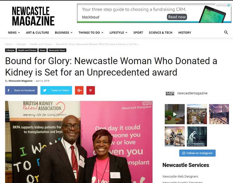 UK Black Living Donor - Because of You Campaign - ELC Associates